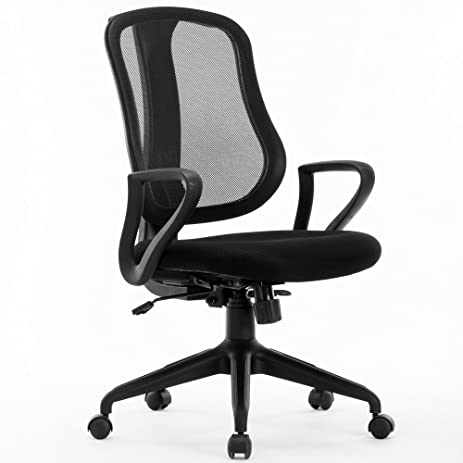 amazon com idee mlc13b deluxe mid back mesh task chair black