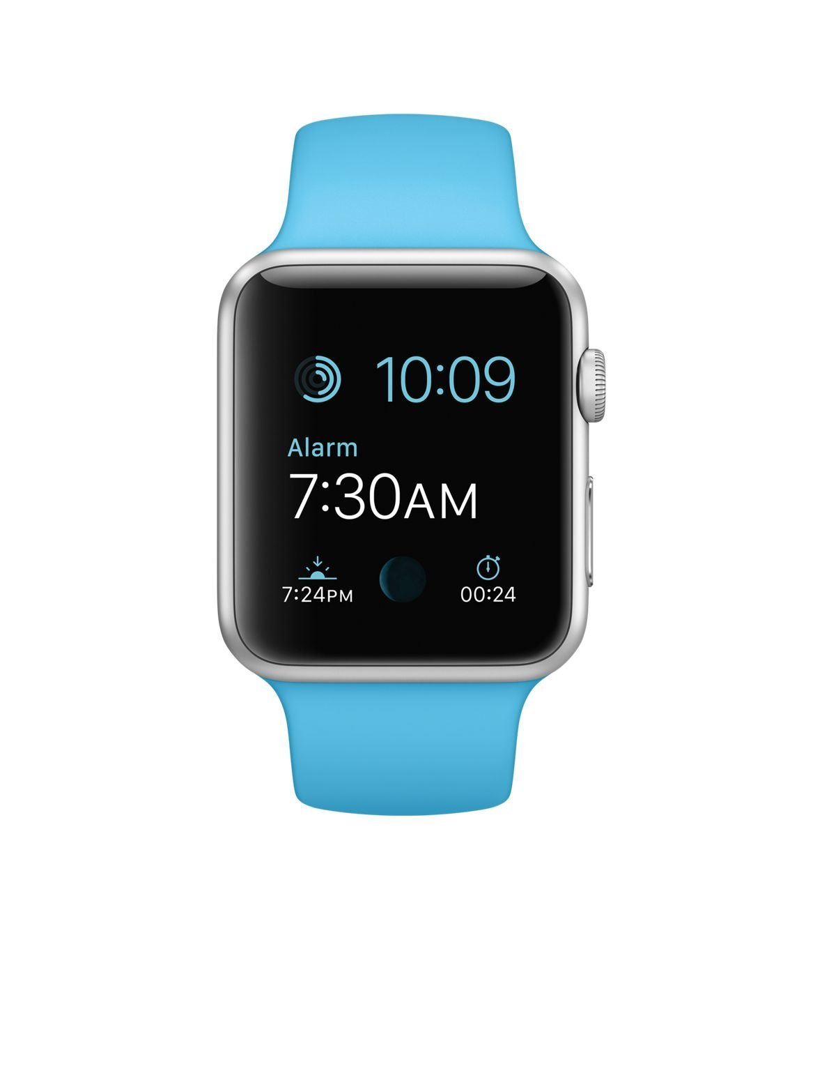 Apple Watch Sport 42mm Silver Aluminum Case with Blue Sport Band (Certified Refurbished)