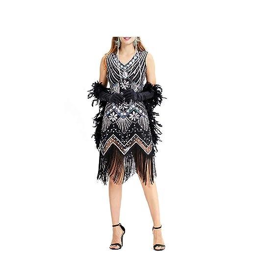 Vestido de Las Mujeres Elegante Granos de Lentejuelas ...