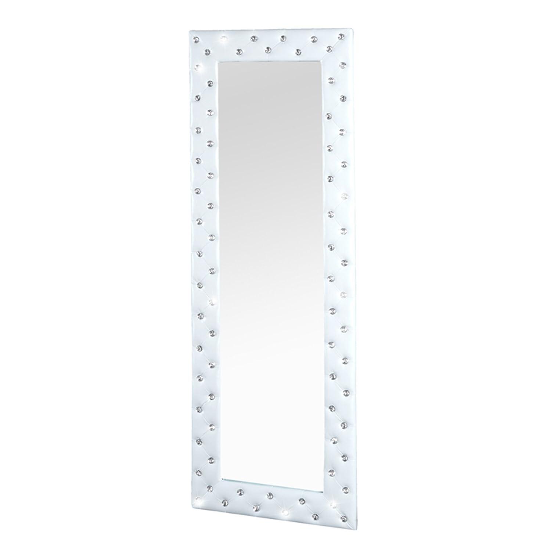 Pompöser Spiegel BOUTIQUE 170x60 weiss mit Strassknöpfen: Amazon.de ...