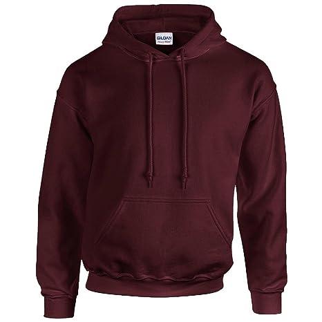 GILDAN - Unisex Sudadera con capucha Pesado Blend - algodón, Granate, 50% algodón 50% poliéster 50% algodón, hombre, L: Amazon.es: Ropa y accesorios