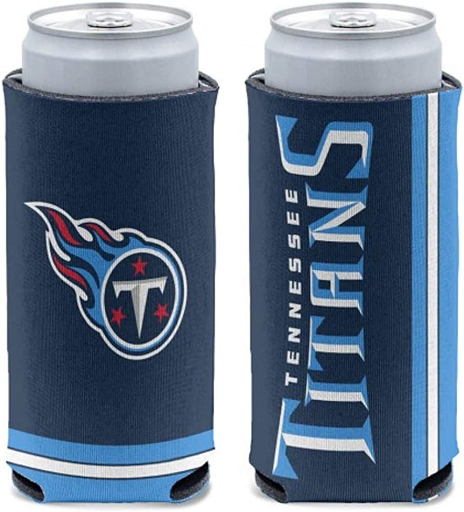 WinCraft NFL Tennessee Titans Slim Can Cooler One Size Team Colors