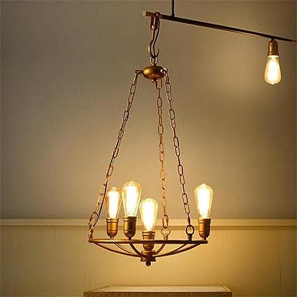 Lámparas de araña Estufa araña Colgante Retro Grandes Luces ...