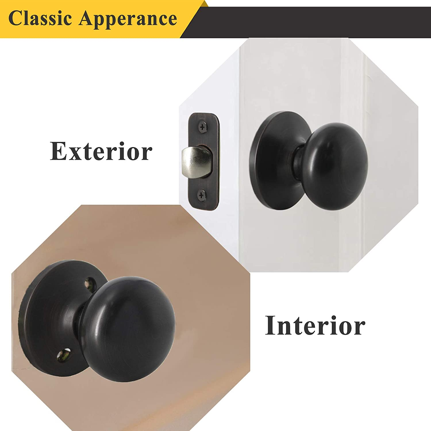 5 Pack Probrico Door Lock Door Lever Handles Oil Rubbed Bronze Wholesale Passage Door Knobs