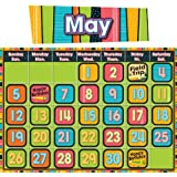Stylin' Stripes Calendar Bulletin Board Set