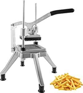 Happybuy Commercial Vegetable Fruit Chopper 1/2? Blade Heavy Duty Professional Food Dicer Kattex French Fry Cutter Onion Slicer Stainless Steel for Tomato Peppers Potato Mushroom, Sliver