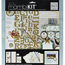 me & my BIG ideas mambiKIT 12-Inch x 12-Inch Scrapbook Page Kit, Ocean