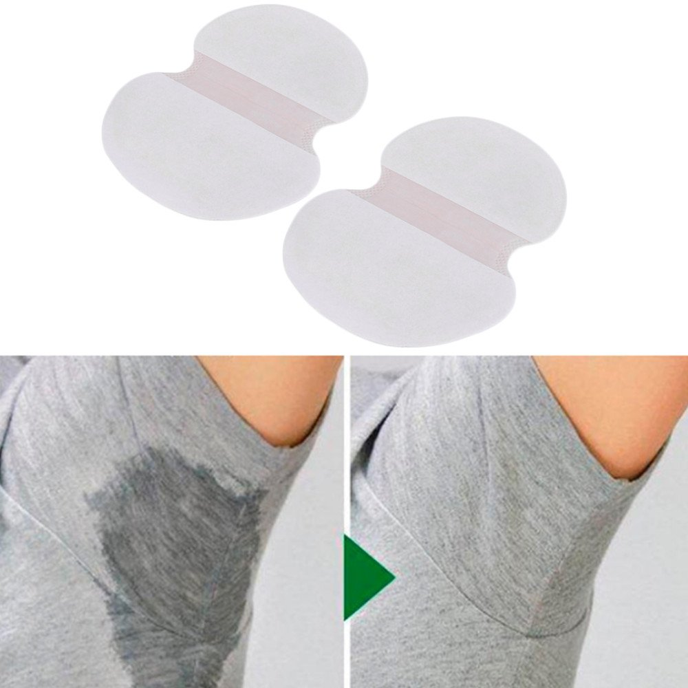 HailiCare 100pcs Underarm Armpit Sweat Pads Shield Absorbing Anti Perspiration Odour Disposable Sheet XHT0317