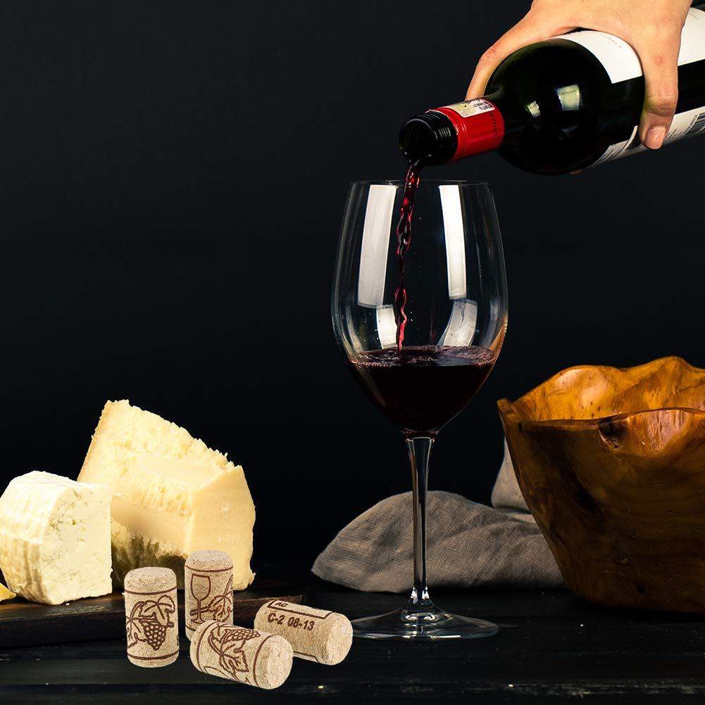 Marr/ón Thursday April 100 Pcs Corchos de Vino Tapones de Botella de Corcho Natural Tap/ón de Corcho Recto Premium Excelente para Vino Embotellado