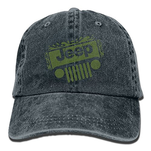 Arsmt Jeep Denim Hat Adjustable Womens Fitted Baseball Hat (Orange Navy Fitted Hats)