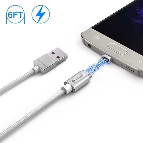 6db97d073d0 Wsken Magnetic 6FT Micro USB Cable, Android charger LED Display USB Sync & Charge  Cable