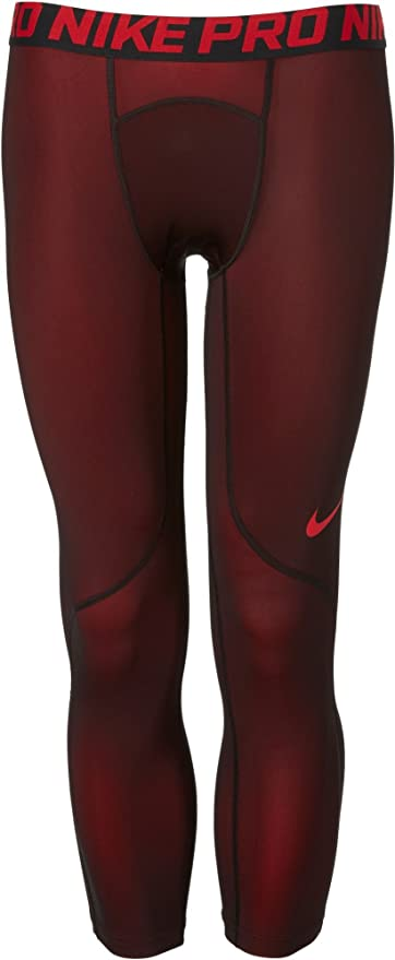 59c63bed98496 Amazon.com : Nike Men's Three Quarter Colorburst Tights (University ...