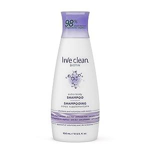 Live Clean Biotin Extra Body Shampoo, 12 Oz