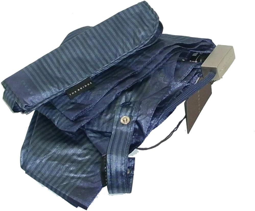 Ombrello donna pieghevole The Bridge mini umbrella 7020 RIGATO blu