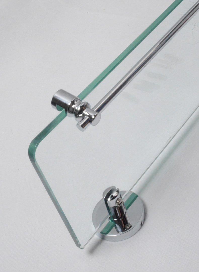 Cloud Power Brass Single Glass Shelves For Bathroom Single Glass Shelves With Chrome Wall-mounted Single Glass Shelves