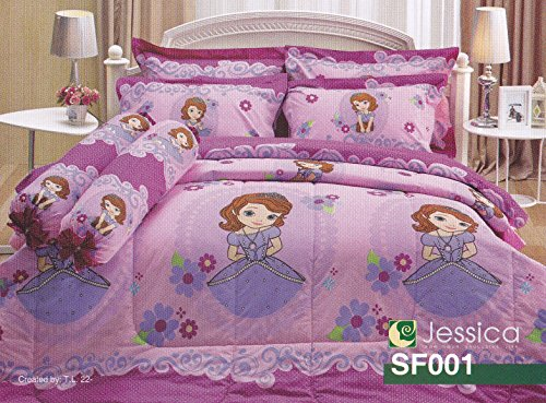 disney-junior-sofia-the-first-princess-bedding-set-queen-sf001-1-comforter-with-5-pieces-of-bed-shee