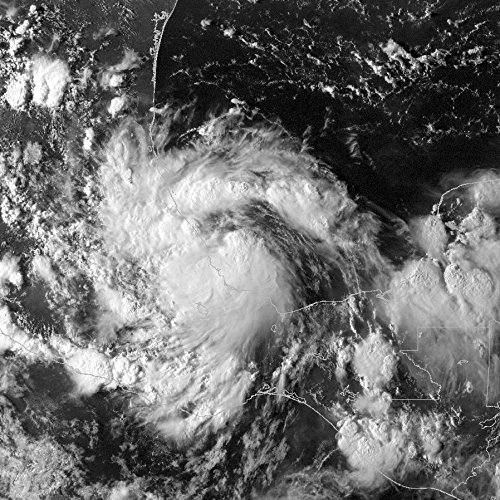 This image of Tropical Storm Bret was captured at 2245 UTC on August 22 when it was located off the