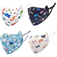 DECOMEN Kids Cloth Face Covering,Washable, Reusable, Multi Pack,UV Protection for Outdoor Activities