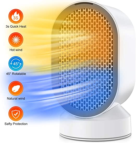Nobebird Portátil Calefactor Eléctrico, Mini Calentador de ...