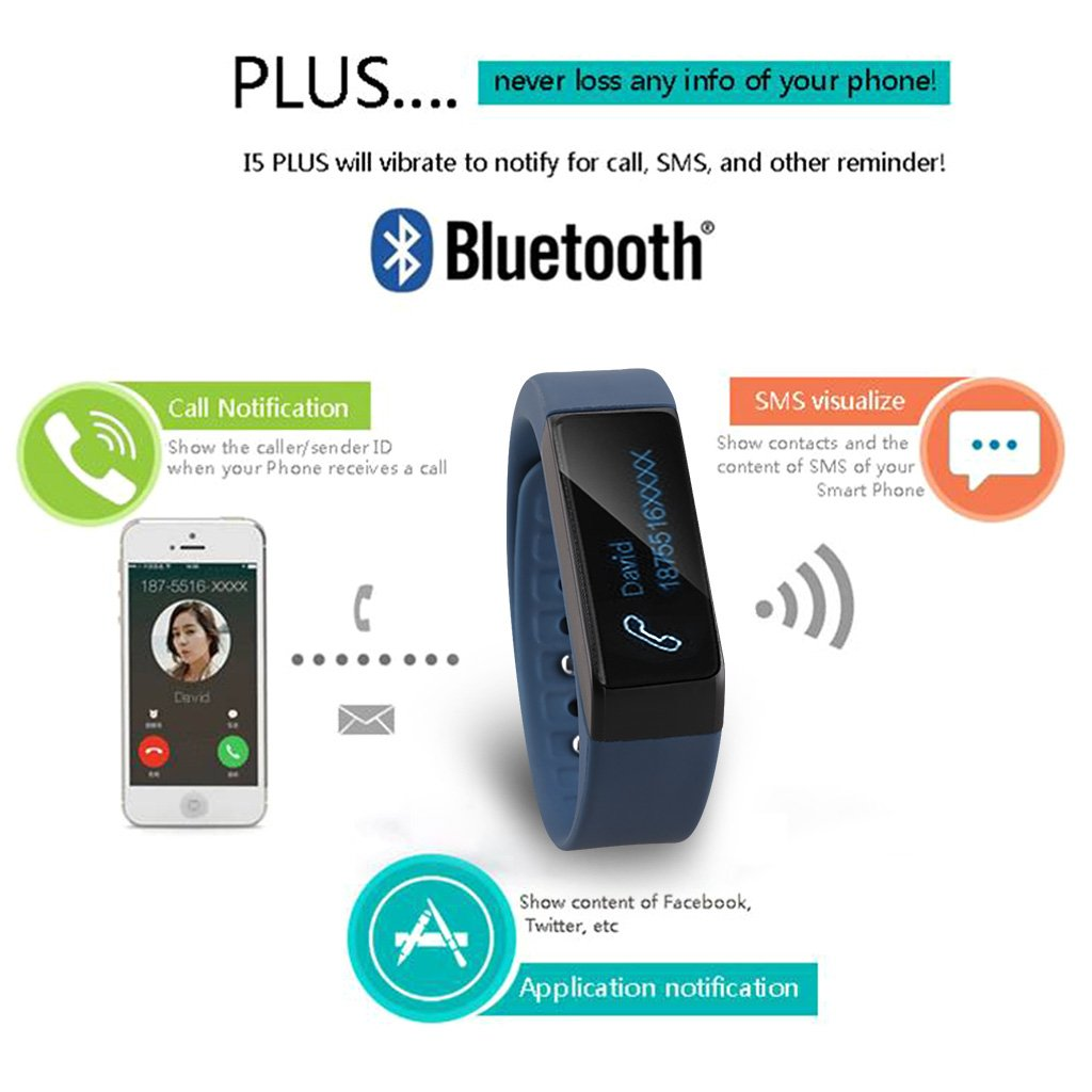 Diggro I5 Plus - Reloj deportivo inteligente, Bluetooth 4.0 ...
