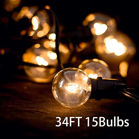 Outdoor String Lights Hanging Decor Indoor String Lights