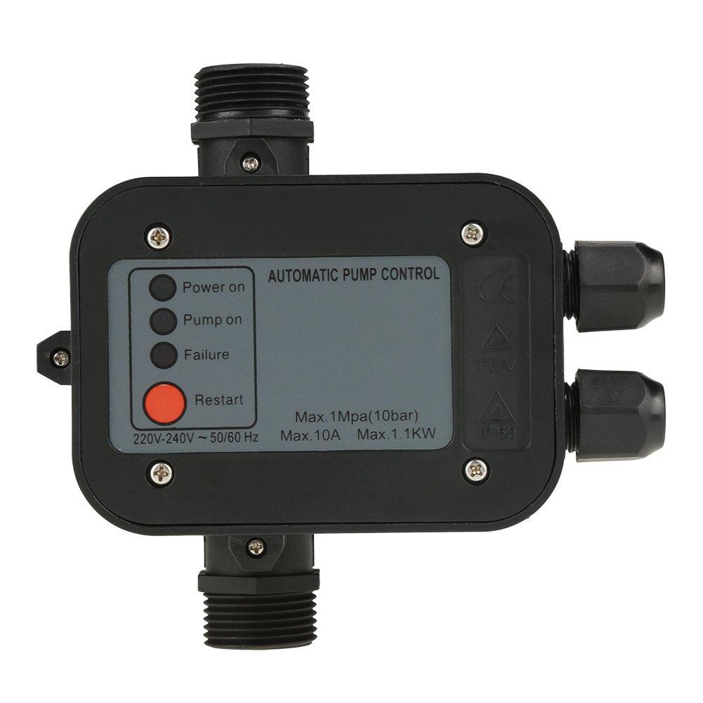 Wasserpumpendruckregler 220V Automatisch fü r selbstansaugende Pumpe, Strahlpumpe, Gartenpumpe, Reinwasserpumpe, Kreiselpumpe Hilitand
