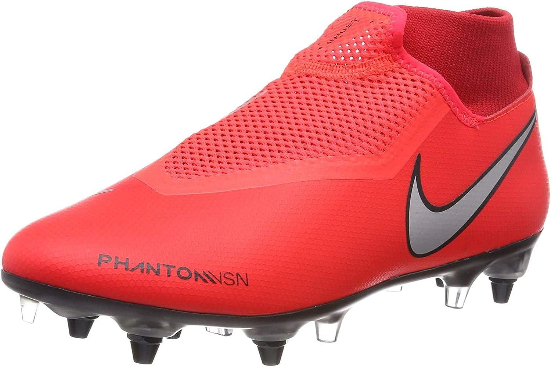 Nike Phntom Vsn Academy DF Sgpro AC, Chaussures de Football Mixte Multicolore Bright Crimson Metallic Silver 600