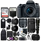 Canon EOS 77D DSLR Camera + Canon EF-S 18-55mm is STM Lens +...