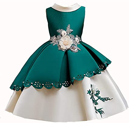 Kid Dress Lace Party Dress Flower Girl Dress for height 100-150cm