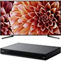 "Sony Bravia XBR85X900F 85"" 4K HDR HLG Triluminos Android LCD TV with Google Assistant 3840x2160 & Sony UBPX800 4K HDR UHD Blu-Ray Player with Dolby Atmos 3D"