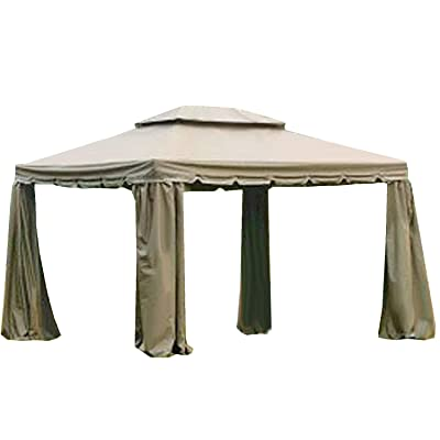 Garden Winds 10 x 12 Scalloped Two-Tiered Gazebo Replacement Canopy Top Cover: Garden & Outdoor