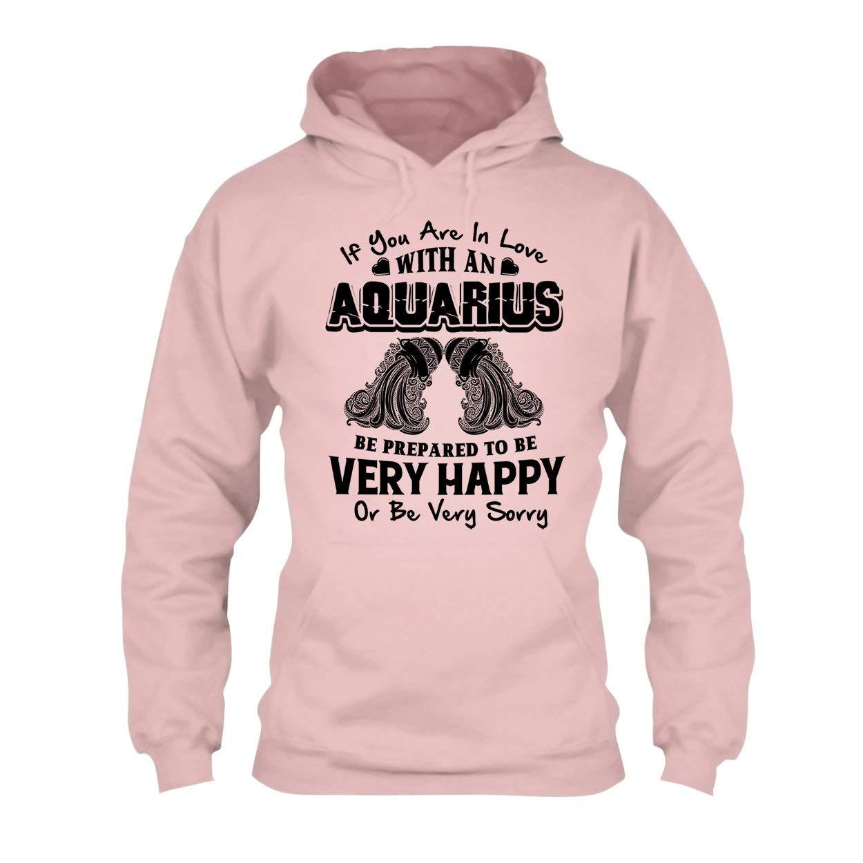 in Love with an Aquarius Tee Shirt Hoodie Cool Sweatshirt