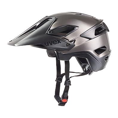 Uvex Jakkyl - Casco de Ciclismo Unisex, Color Negro/Plata Oscuro Mate