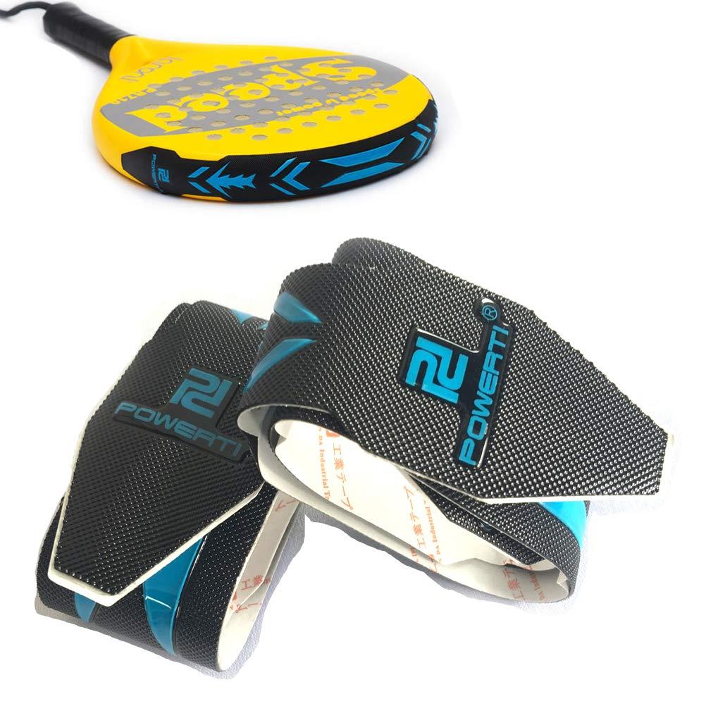 powerti Yixuan ハードビーチテニスラケットテープ ヘッド保護バンド ビーチテニスラケット パドルバット ヘッド保護テープ 2個セット ブラック B07MRJ6K6M