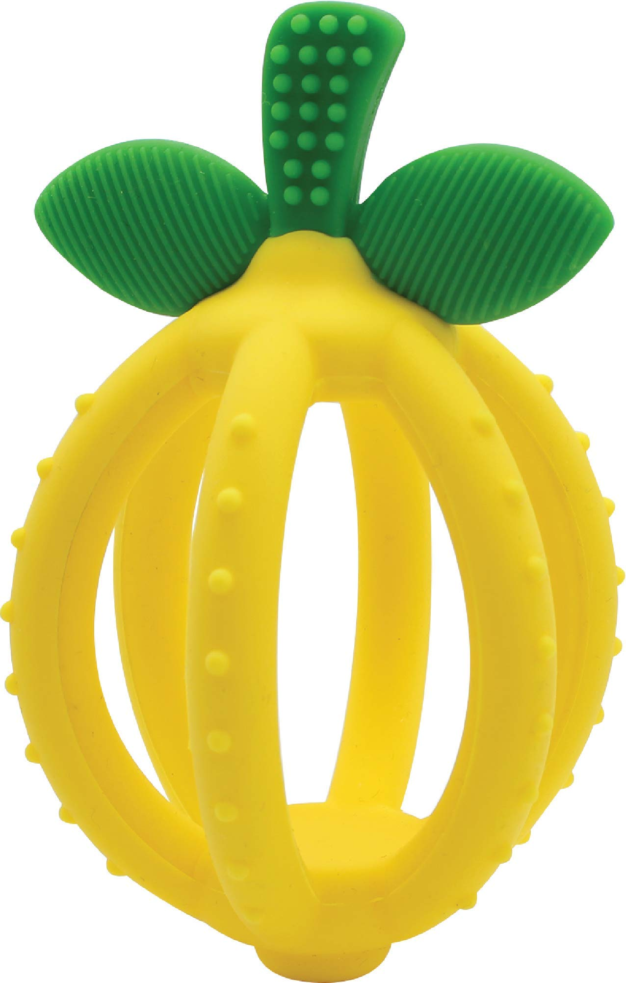 Itzy Ritzy Teething Ball & Training Toothbrush – Silicone, BPA-Free Bitzy Biter Lemon-Shaped Teething Ball Featuring…