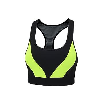 AIRTRACKS Red decoct - Sujetador Deportivo Mujer/Negro/Neon/Fitness/Entrenamiento/Yoga/sujeción Fuerte/Transpirable: Amazon.es: Deportes y aire libre