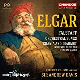 Edward Elgar: Falstaff Orchestral Songs; Grania and Diarmid [Roderick Williams; BBC Philarmonic; Sir Andrew Davis] [Chandos: CHSA 5188]