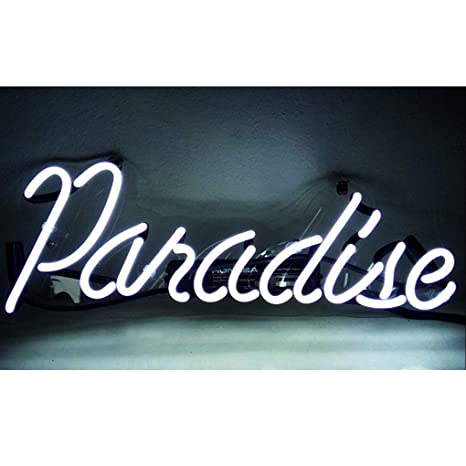 Cartel de neón Paradise, Familia, Dormitorio, Bar, Hotel ...