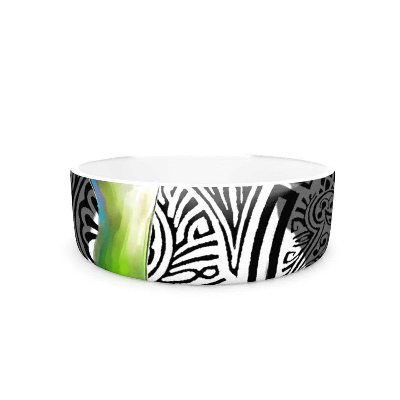 Kess InHouse S. Seema Z Three Lily  Pet Bowl, 7-Inch