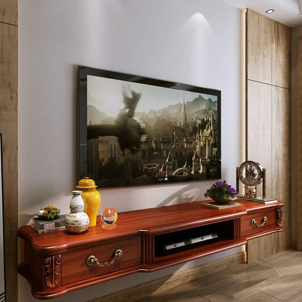 木製の壁フローティング棚ウォールマウント棚テレビコンソールテレビキャビネットWifiルーター収納ラックボックスのリビングルームの寝室 (サイズ さいず : 140cm) B07R29D1CM  140cm