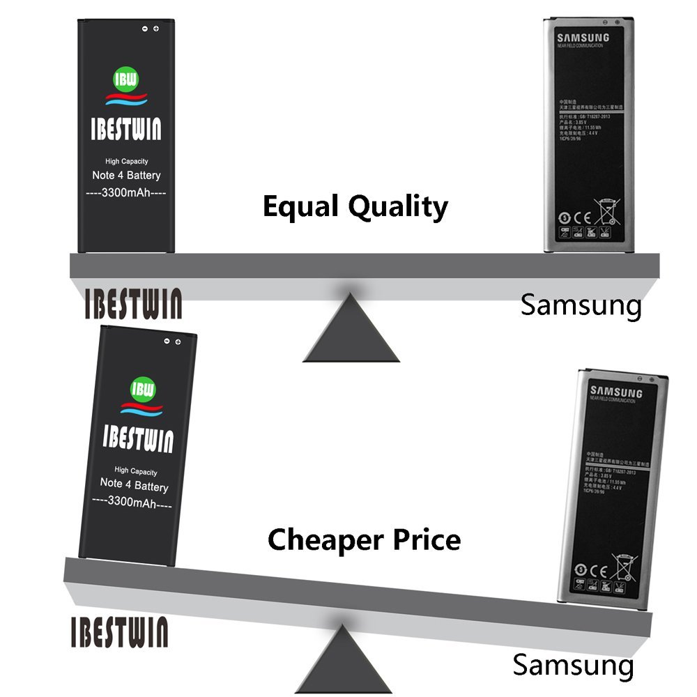 Note 4 Battery IBESTWIN 3300mAh Li-ion Replacement Battery for Samsung Galaxy Note 4 N910, N910V, N910A, N910T, N910P, N910R4, N910U 4G LTE, N910F [3 Years Warranty] by IBESTWIN (Image #6)