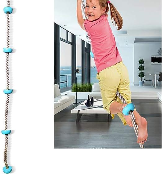 SHARESUN Cuerda de Escalada de 2 m, Disco de Cinco Secciones para niños Cuerda de Escalada Columpio, Accesorios de Columpio, para Interiores en Exteriores: Amazon.es: Deportes y aire libre