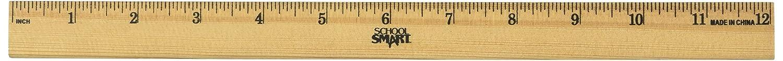 Escuela inteligente madera Plain Edge escala reglas reglas escala – 12 inch escala .0625 995ee2