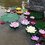 Taloyer-Artificial-Lotus-Flower-Water-Lily-Floating-Pool-Plants-Fake-Flower-Ornaments-for-Home-Party-Hotel-Venue-Decoration-Pink-Red