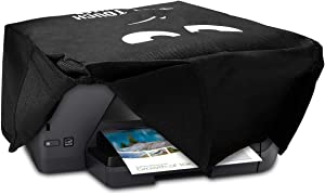 kwmobile Cover Compatible with HP OfficeJet Pro 6000series - Durable and Resistant Printer Dust Cover - Don't Touch My Printer White/Black