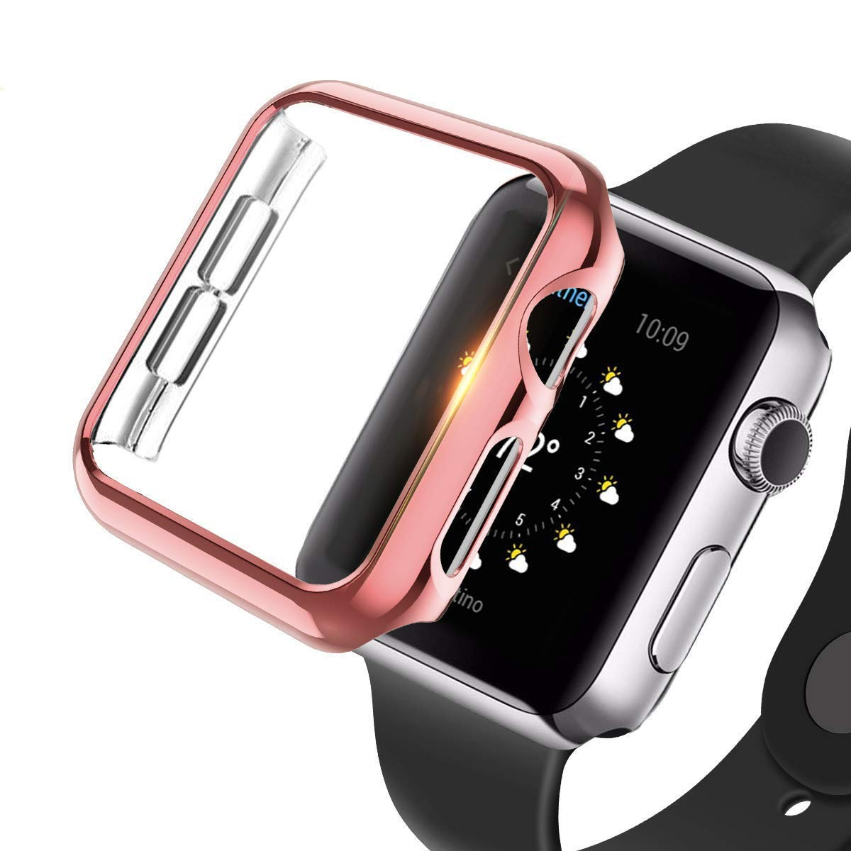 hermoso estilo imágenes detalladas elegante y elegante Details about Para for Apple Watch Series 4 Case iphone reloj protector de  pantalla 44mm