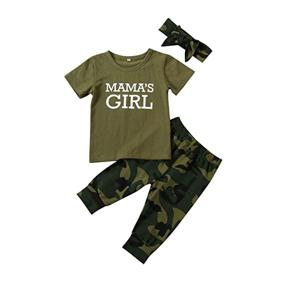 Summer Baby Boy Camouflage T-shirt Casual Short Sleeve Toddler Cloth Top Sunsuit