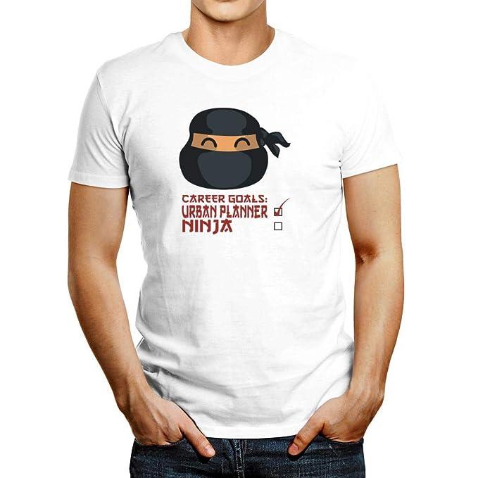 Amazon.com: Idakoos Career Goals Urban Planner Ninja Face T ...