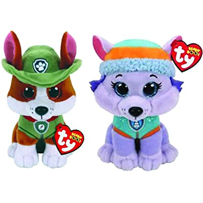 "Ty Licensed Beanies - Paw Patrol Tracker & Everest 2 pc Set - 8"": Toys & Games"
