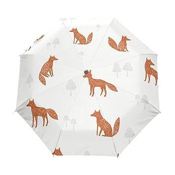 bennigiry plegable paraguas con empuñadura de goma antideslizante, automático y compacto para negocios y viajes
